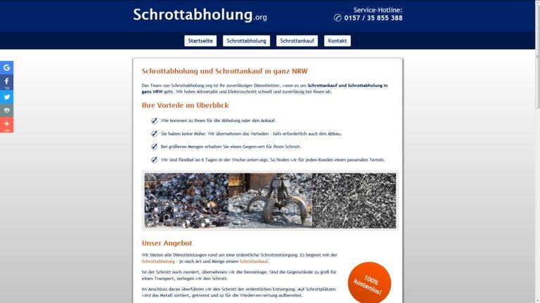 Die Schrottabholung Gelsenkirchen holt Ihren Altmetallschrott ab