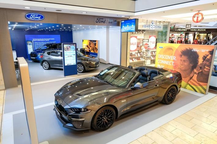 Ford geht dahin, wo Kunden einkaufen: In Zusammenarbeit mit dem Autohaus Bunk werden in der Europa-Galerie in Saarbrücken neue Möglichkeiten zum Kauf von Autos getestet