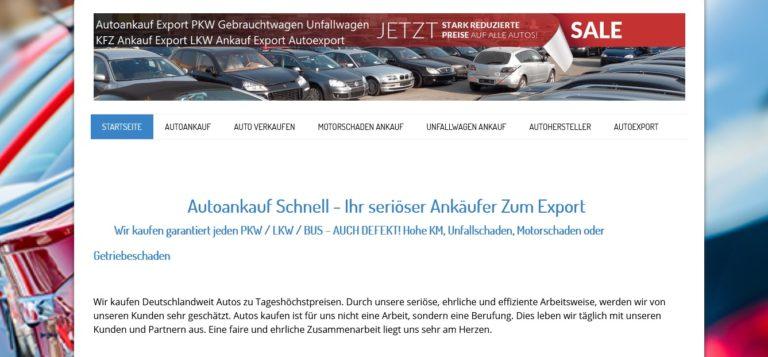Autoankauf in ganz Deutschland