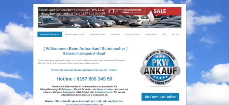 Autoankauf Bonn – Autoankauf Schumacher Gebrauchtwagen Ankauf aller KFZ auch Unfallwagen