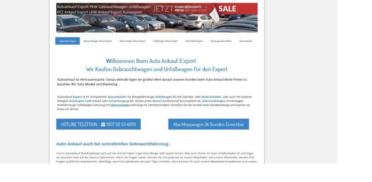 Autoankauf in Potsdam auch mit Motorschaden oder als Unfallwagen