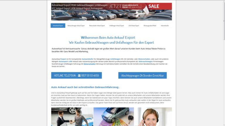 Autoankauf in Potsdam für Gebrauchtwagen & Lkw sowie Pkw Ankauf mit oder ohne Unfall