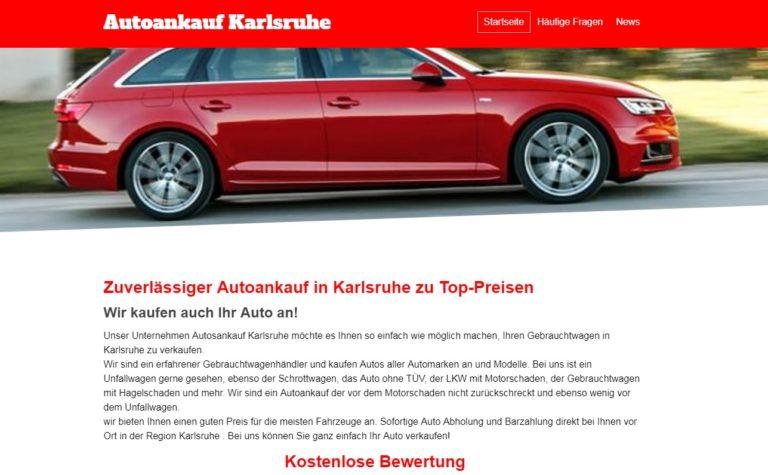 Autoankauf Karlsruhe überzeugt mit kompetenter und einfacher Abwicklung