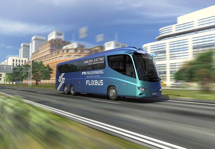 Brennstoffzellen für den Busfernverkehr FlixBus und Freudenberg Sealing Technologies bündeln Kompetenzen