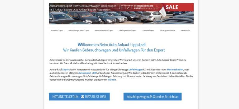 """Kfz-Ankauf-Export Lippstadt kauft die Fahrzeuge definitiv """"wie gesehen"""""""