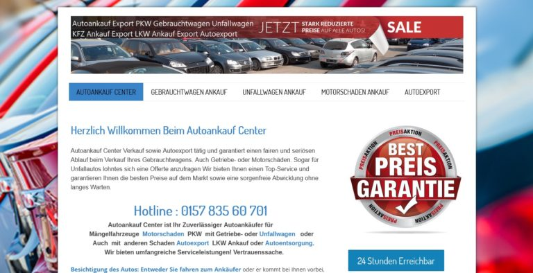 Autoankauf Euskirchen – kauft Autos auch ohne TÜV
