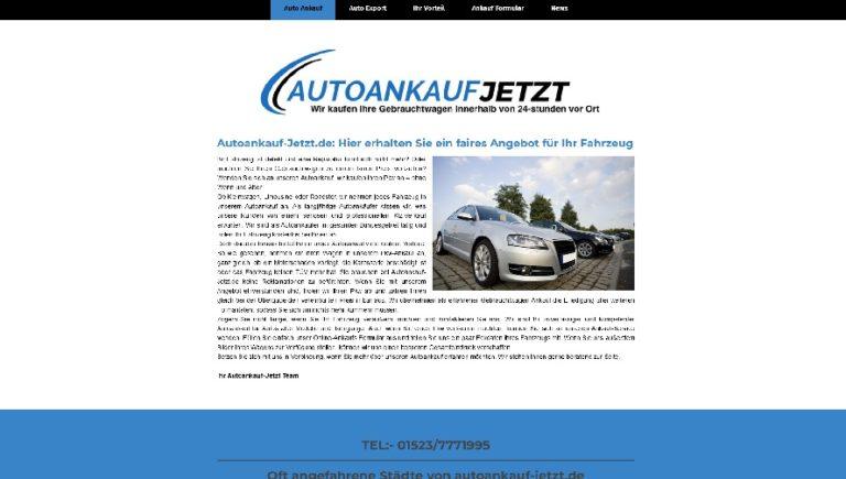Autoankauf-Jetzt biete Vorort Service in Kleve und Umgebung