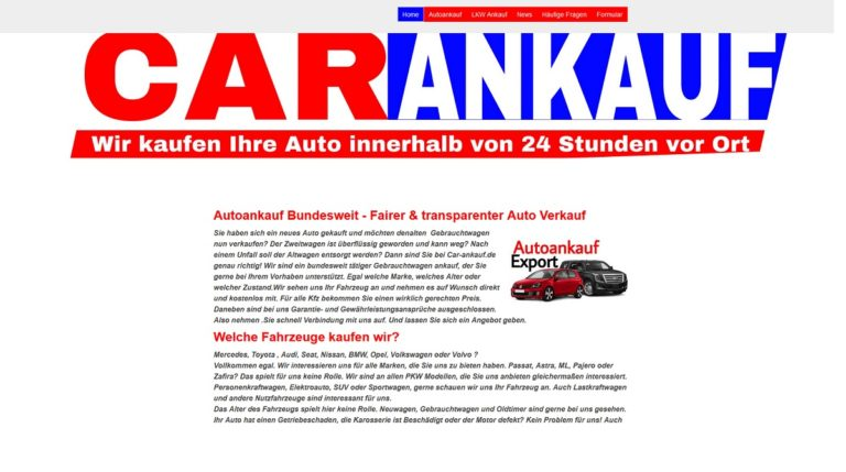 Das Team vom Autoankauf Remscheid kauft sowohl Fahrzeuge mit hoher Laufleistung und auch Unfallwagen
