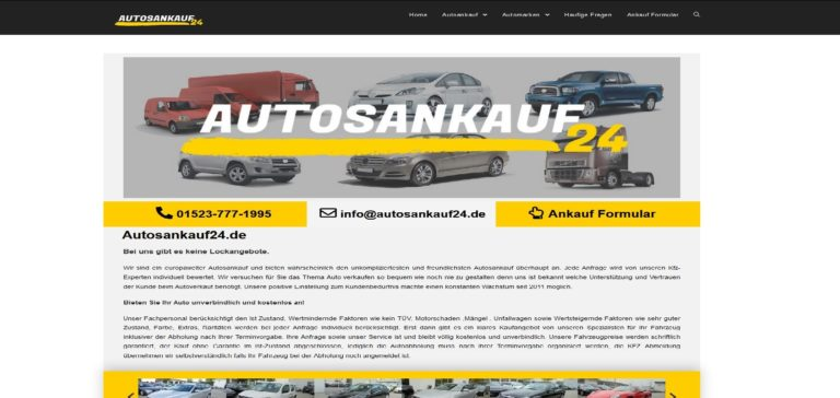 Autoankauf Kiel kommt auch Vort Ihr Fahrzeug zu begutachten