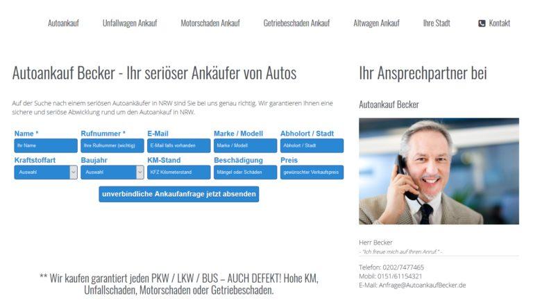 Auto schnell und sicher verkaufen in Wuppertal
