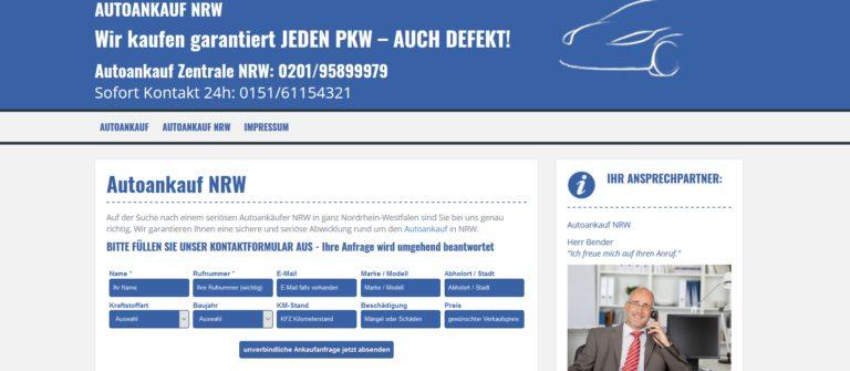 Autoankauf NRW: fair und unkompliziert! Ihre Nummer 1 in NRW