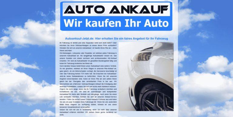 Autoankauf zum Höchstpreis .autoankauf-jetzt.de