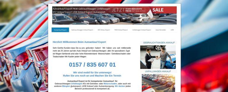 Autoankauf Export – PKW Ankauf Unfallwagen Export – Wir Kaufen jeden Wagen