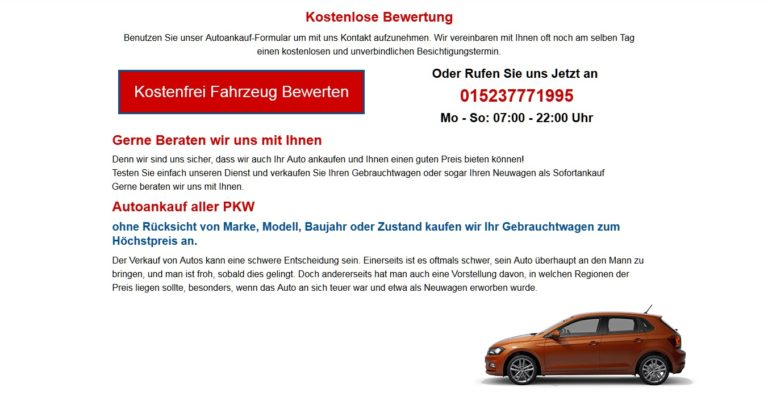Autoankauf Wolfsburg | ist spezialisiert auf Ankauf von Autos