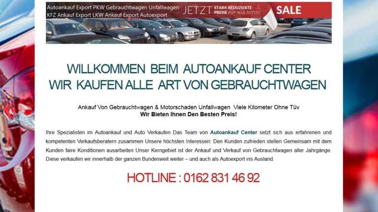 Verkaufen sie Ihr Auto bei Autoankauf Solingen