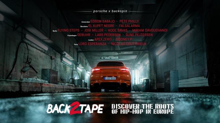 """Porsche präsentiert Hip-Hop-Dokumentation """"Back 2 Tape"""" / Ab sofort auf Instagram, TikTok, YouTube, Spotify und im Porsche Newsroom"""