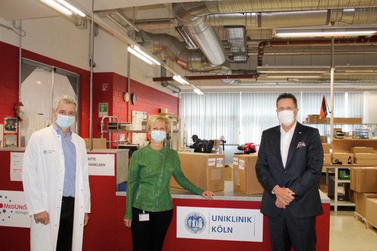 20.000 Atemschutzmasken für Kölner Ärzte und Pflegepersonal