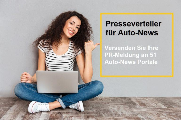 Pressemeldung veröffentlichen :   Presseverteiler für Auto News Pressemeldungen
