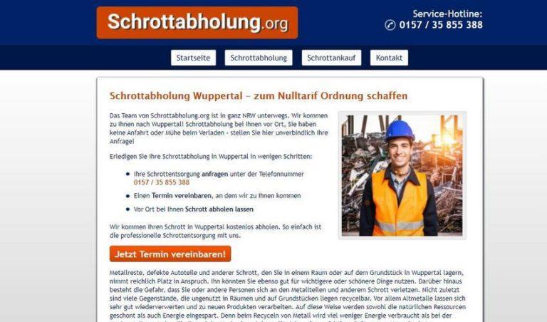 Die Schrottabholung Wuppertal holt Ihren Altmetallschrott ab