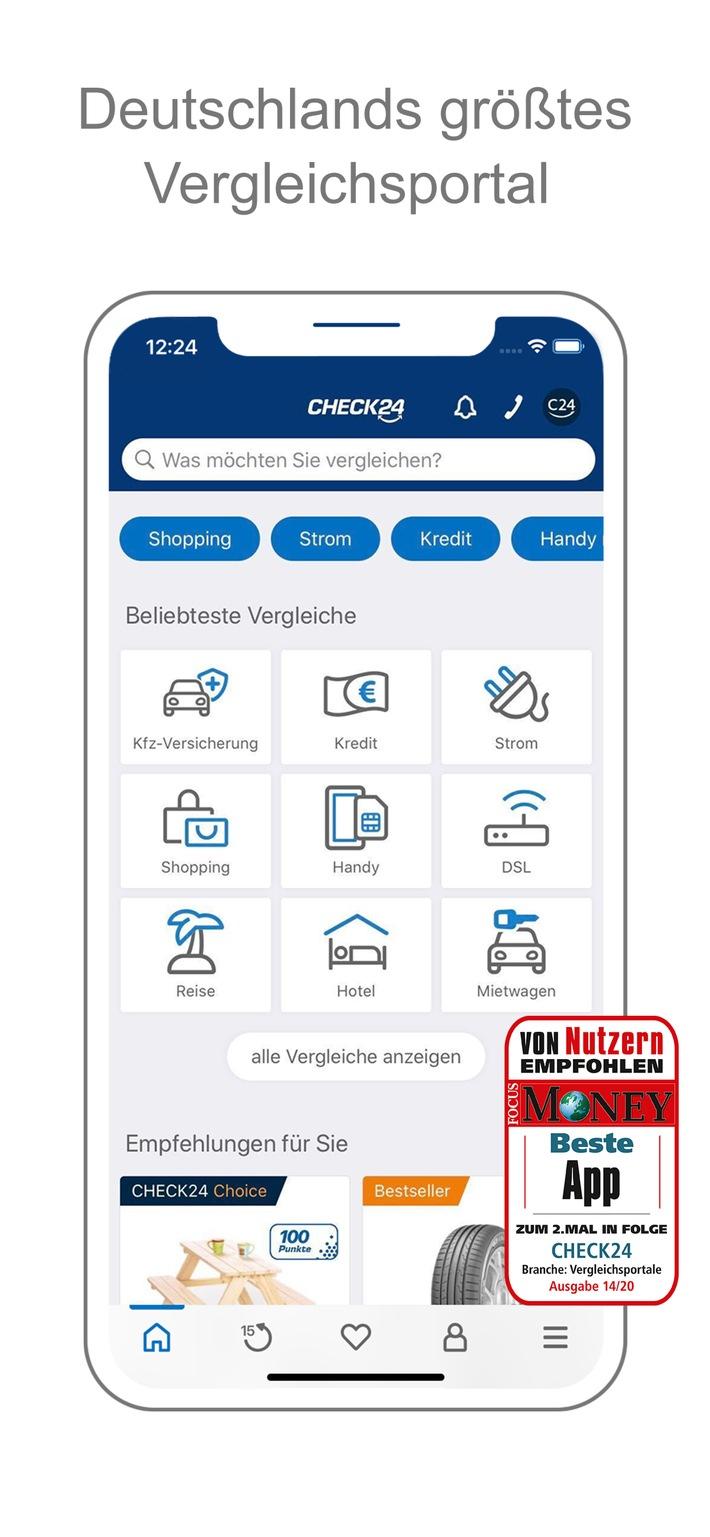 ServiceValue und FOCUS MONEY: CHECK24 hat die beste App