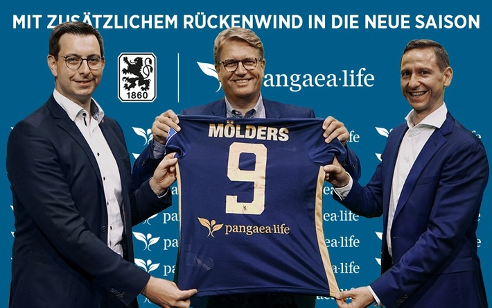 Pressemeldung – Nachhaltigkeit auf dem Rücken: Pangaea Life wird neuer Trikot-Rückensponsor des TSV 1860 München