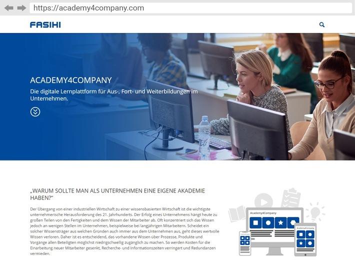 Academy4Company – Die Digitale Akademie für Unternehmen / Die Lernplattform für Ausbildung, Weiterbildung, Fortbildung und Wissensvermittlung